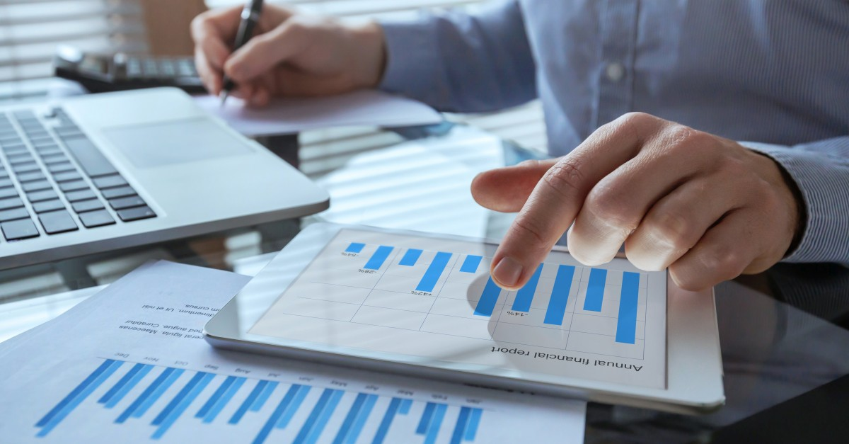 businessman working with sales intelligence tools