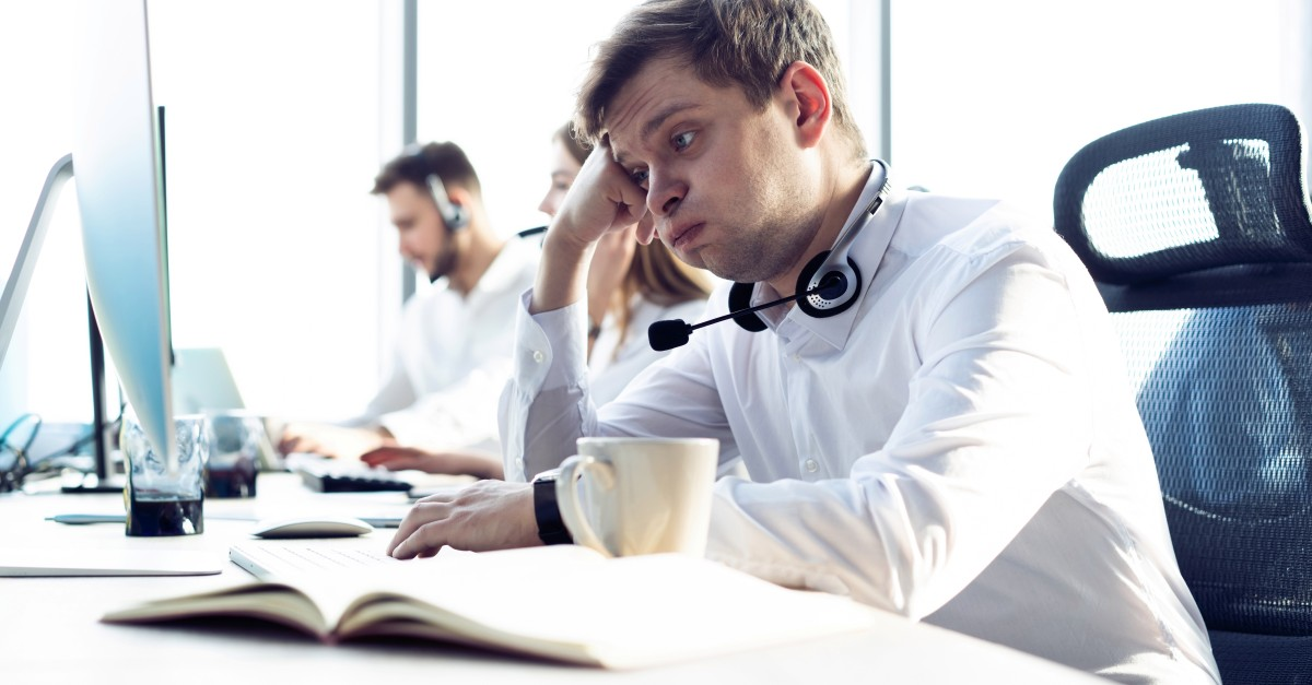 Business man tired to creating a sales enablement strategy
